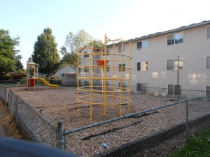 The playground builds a sense of community for families with children.